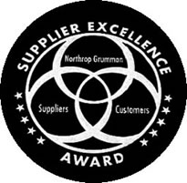 Northrop Grumman Supplier Excellence Award, 2009, 2011, 2013 and 2015